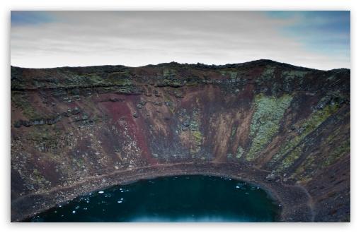 Download Kerio Lake, Iceland UltraHD Wallpaper
