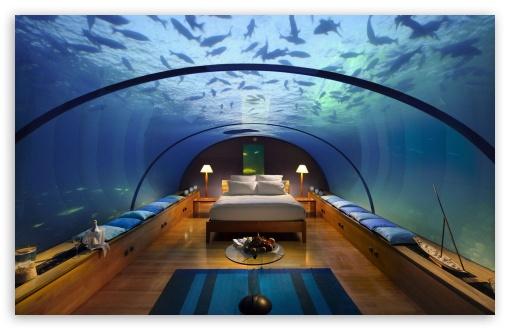 Download Underwater Bedroom UltraHD Wallpaper