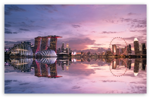 Download Beautiful Singapore Reflection UltraHD Wallpaper