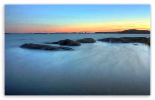 Download Calm Sea Long Exposure UltraHD Wallpaper