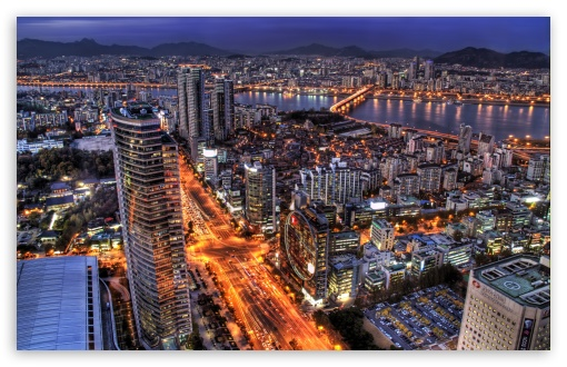 Download Seoul At Night, South Korea UltraHD Wallpaper