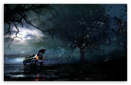 Download Halloween Bats UltraHD Wallpaper