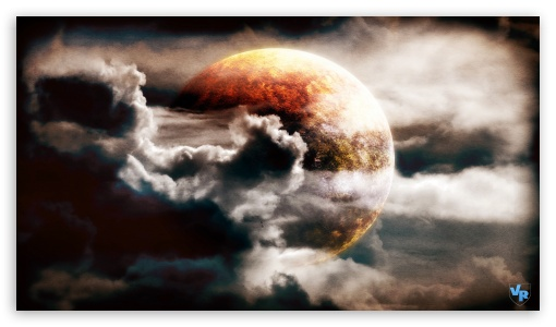 Download Planet in the Clouds UltraHD Wallpaper