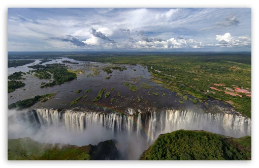 Download Widest Waterfall In The World UltraHD Wallpaper