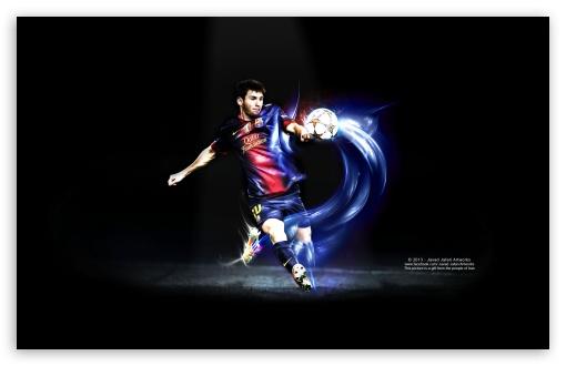 Download Messi Kick UltraHD Wallpaper