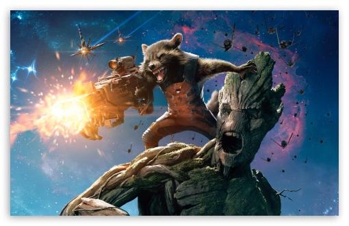 Download Guardians Of The Galaxy Groot And Rocket Raccoon UltraHD Wallpaper