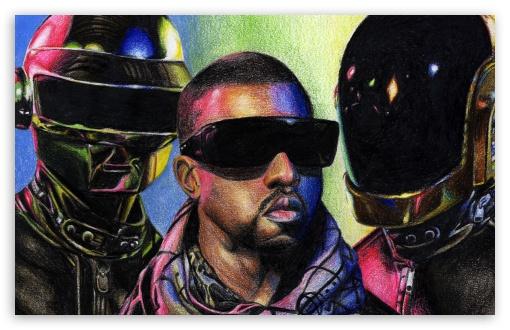 Download Daft Punk vs. Kanye West UltraHD Wallpaper