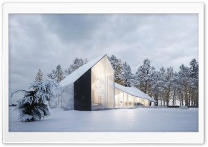Modern House Design, Winter,...