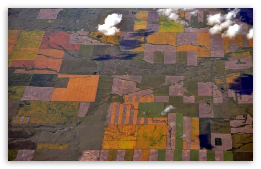 Download Aerial View - Near Coutts, Alberta UltraHD Wallpaper