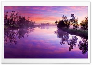 Purple River Reflection