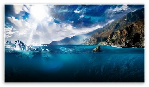 Download Under Sea Draving UltraHD Wallpaper