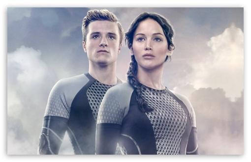 Download Jennifer Lawrence as Katniss Everdeen and... UltraHD Wallpaper