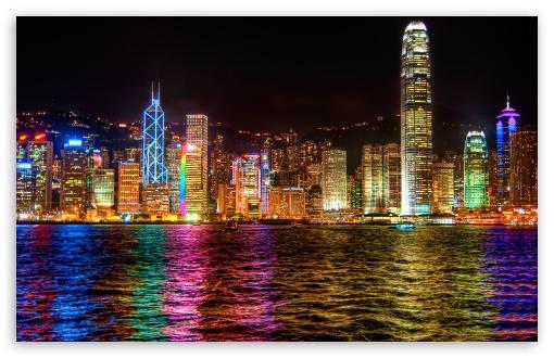 Download A Symphony of Lights Hong Kong UltraHD Wallpaper