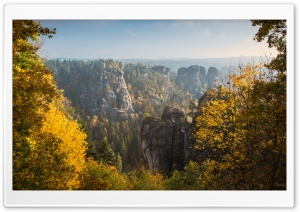 View from the Bastei, Autumn