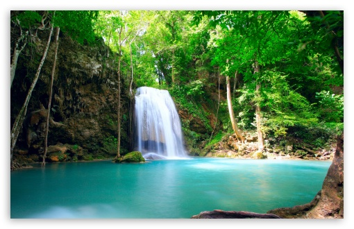 Download Tropical Waterfall UltraHD Wallpaper