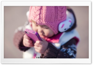 Cute Baby Talking On The Phone