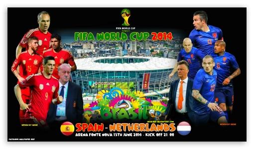 Download SPAIN - NETHERLANDS WORLD CUP 2014 UltraHD Wallpaper
