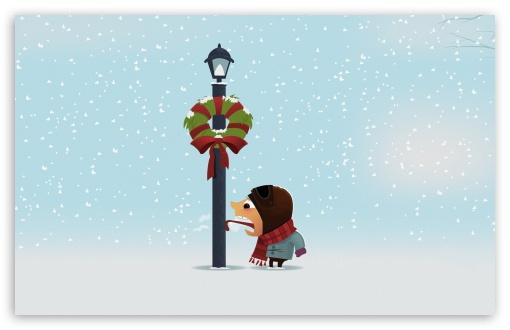 Download Funny Winter Holidays UltraHD Wallpaper