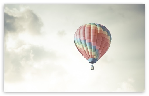 Download Colorful Hot Air Balloon In The Sky UltraHD Wallpaper