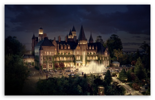Download The Great Gatsby Mansion UltraHD Wallpaper