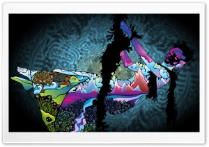 Abstract Colored Drawing