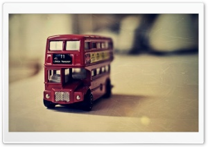 Old English Bus Toy