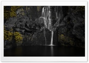 Waterfall, Azores island of...