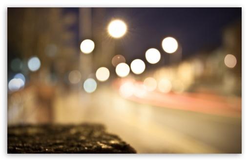 Download City Lights Bokeh UltraHD Wallpaper