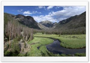 Winding Mountain River