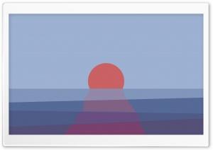 Sunset Ocean Vector Graphics