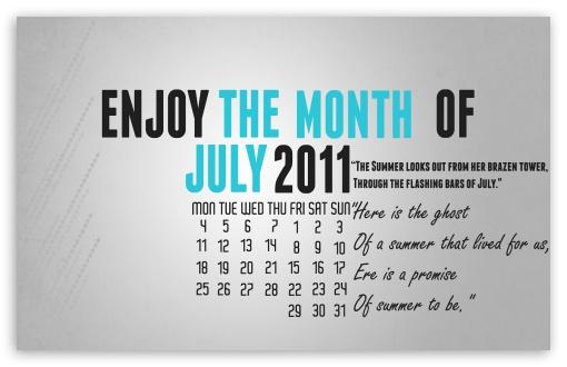 Download July 2011 UltraHD Wallpaper