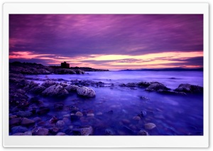 Violet Clouds And Blue Water