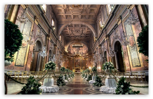 Download Church Wedding Ceremony UltraHD Wallpaper