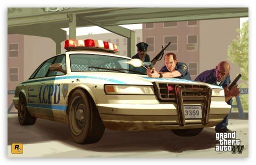 Download GTA 4 Cops UltraHD Wallpaper