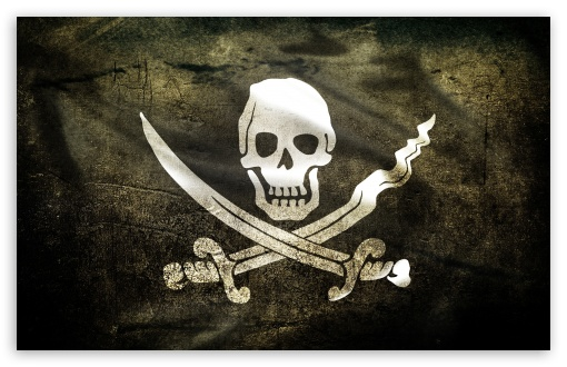 Download Pirate Flag UltraHD Wallpaper