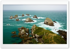 Looking down at Nugget Point...