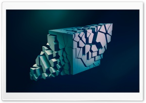 Shattered Abstract 3D Cube