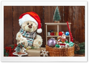 Christmas, Teddy Bear, Toys,...