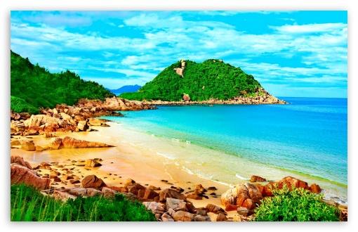 Download Tropical Lagoon UltraHD Wallpaper