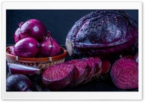 Purple Cabbage, Beet, Onion
