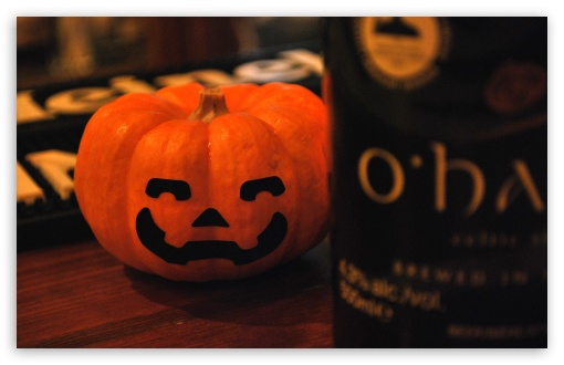 Download Smiling Pumpkin & Ohara UltraHD Wallpaper