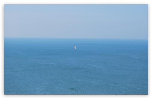 Download Sailboat In Open Sea UltraHD Wallpaper