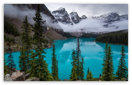 Download Moraine Lake, Canadian Rockies UltraHD Wallpaper