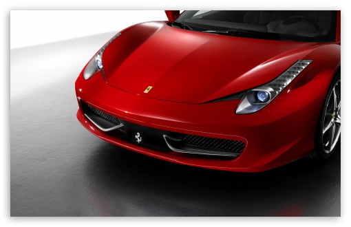 Download 2010 Ferrari 458 Italia Front UltraHD Wallpaper