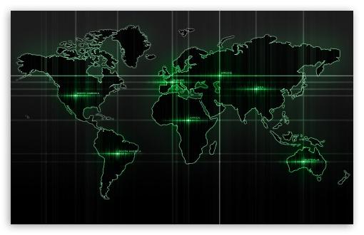 Download World Map Green UltraHD Wallpaper