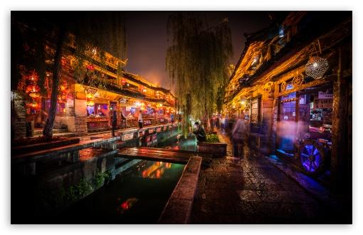 Download Night In Lijiang UltraHD Wallpaper