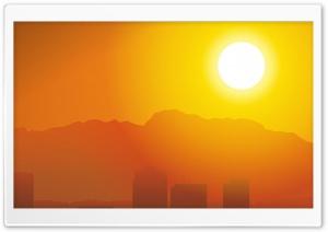 City Hot Sunset