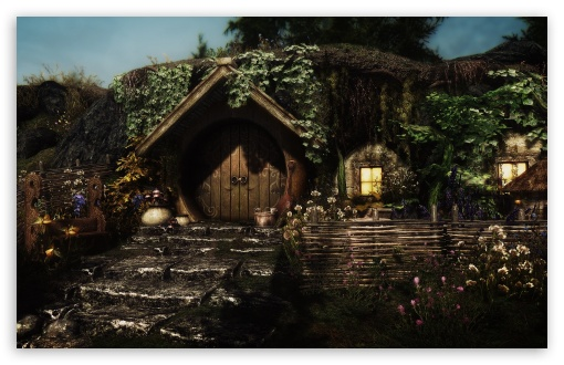 Download Hobbit Hole UltraHD Wallpaper