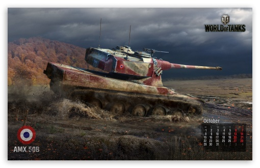Download World of tanks: tank Amx 50B UltraHD Wallpaper