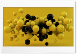 Yellow and Black Balls